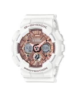 G-Shock S-Series Blanco y Oro Rosa de Mujer GMAS120MF7A2