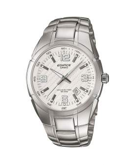 Edifice Analogo Metal Dial Carbono Blanco de Hombre...