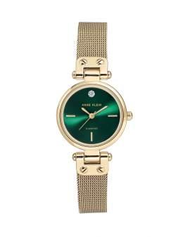 Anne Klein Diamond Metal Dorado Dial Verde de Mujer 3002-GNGB