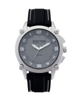 Reaction Kenneth Cole Analogo Gris y Negro de Hombre...