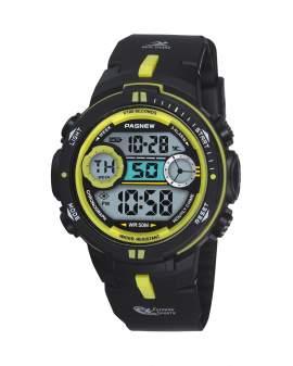 Pasnew Digital Negro y Amarillo de Hombre PSE-462-N2