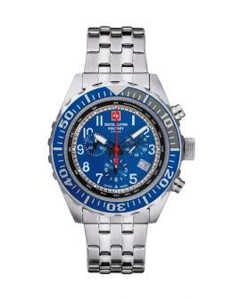 Swiss Alpine Military Navy Chrono Metal de Hombre...