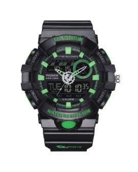 Pasnew Analogo-Digital Negro y Verde de Hombre PSE-496-N6