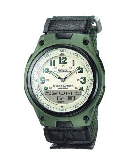 Casio Illuminator Analogo Digital Verde de Hombre AW-80V-3B