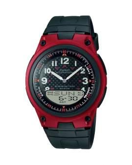 Casio Analogo Digital Rojo y Negro de Hombre AW-80-4B