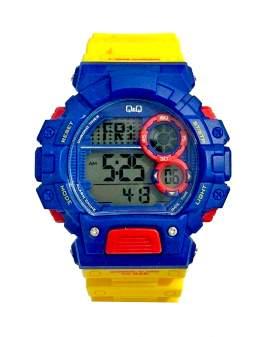 Q&Q Digital Azul y Amarillo de Hombre M144J801Y
