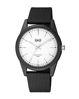Q&Q Resina Negro Dial Blanco de Hombre VS12J003Y
