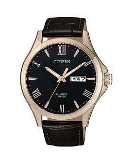 Citizen Classic Dorado y Cuero Cafe de Hombre BF2023-01H