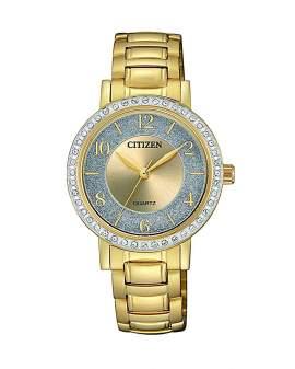 Citizen Crystals Dorado de Mujer EL3042-50P