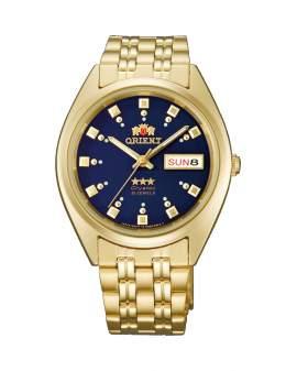 Orient 3 Star Crystal Automatico Dorado Dial Azul de...