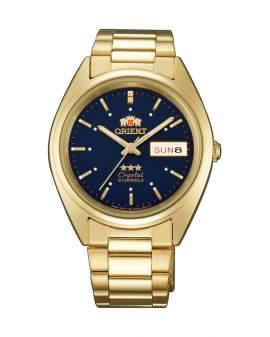 Orient 3 Star Crystal Dorado Dial Azul de Hombre FAB00002D
