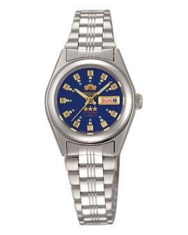 Orient 3 Star Crystal Plateado Dial Azul de Mujer FNQ1X003J