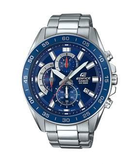Edifice Cronografo Plateado y Azul de Hombre EFV-550D-2A