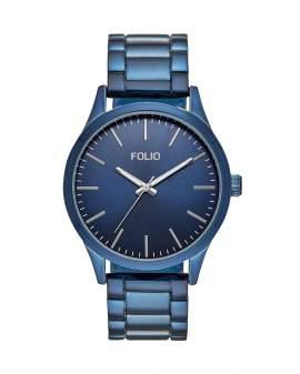 Folio Metal Azul Dial Azul de Hombre FMDFL5025