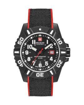 Swiss Military Black Carbon Fiber de Hombre 0643091700704