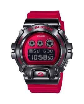 G-Shock Classic Acero y Resina Rojo de Hombre GM-6900B-4D