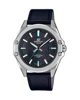 Edifice Sapphire Metal y Cuero Negro de Hombre EFR-S107L-1A