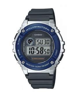 Casio Illuminator Digital Azul y Gris de Hombre W-216H-2A