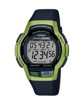 Casio Illuminator Sport Negro y Verde de Hombre WS-1000H-3A