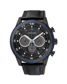 Citizen Eco Drive Cronografo Negro y Cuero Negro de...