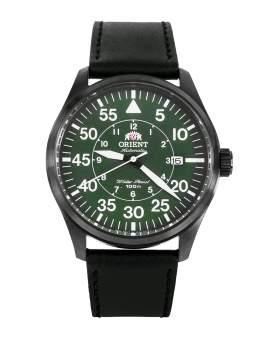 Orient Pilot Automatico Negro y Verde Correa Negra de...