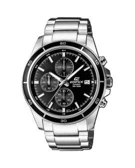 Edifice Cronografo Plateado y Negro de Hombre EFR-526D-1A