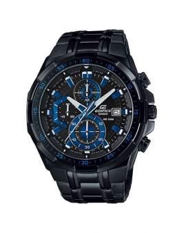 Edifice Cronografo Negro y Azul de Hombre EFR-539BK1A2
