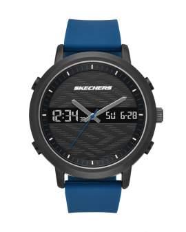 Skechers Lawndale Negro y Azul de Hombre SR5072