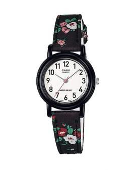 Casio Analogo Negro Floral de Mujer LQ-139LB-1B2
