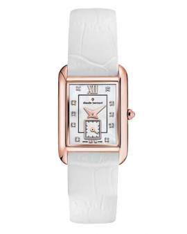 Claude Bernard Classic Rectangular Small Second de Mujer...