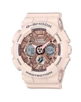 G-Shock Serie S Dial Oro Rosa Crema de Mujer GMA-S120MF4A