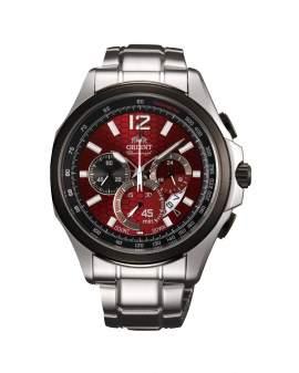 Orient Cronografo Sport Plateado y Vino de Hombre FSY00001H