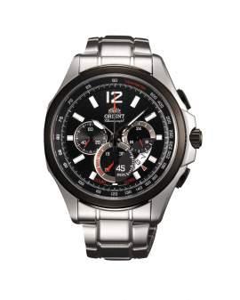 Orient Cronografo Sport Plateado y Negro de Hombre FSY00001B