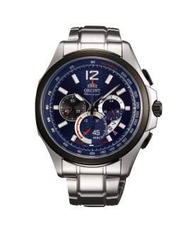 Orient Cronografo Sport Plateado y Azul de Hombre FSY00002D