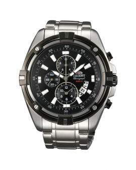 Orient Cronografo Sport Plateado y Negro de Hombre FTT0Y002B