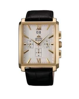 Orient Cronografo Rectangular Big Date Dorado de Hombre...