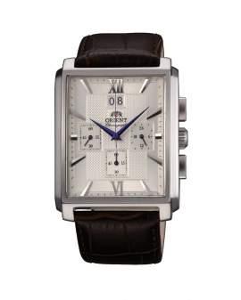 Orient Cronografo Rectangular Big Date Plateado de Hombre...