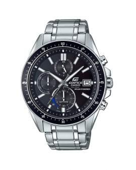 Edifice Cronografo Solar Sapphire Plateado y Negro de...