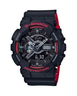 G-Shock Classic Negro y Rojo de Hombre GA-110HR-1A