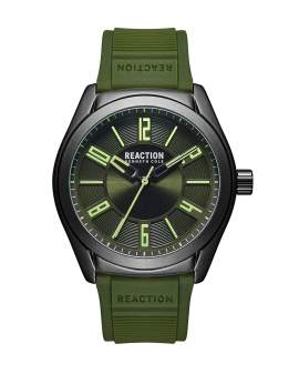 Reaction Kenneth Cole Analogo Verde y Negro de Hombre...