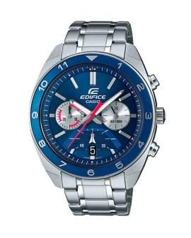 Edifice Cronografo Plateado y Azul de Hombre EFV-590D-2A