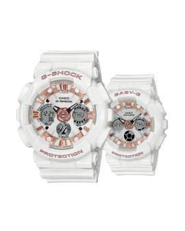 G-Shock y Baby-G Lovers Blanco y Oro Rosa (Pareja) Hombre y Mujer LOV-20A-7A