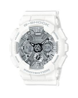 G-Shock S-Series Blanco y Plateado de Mujer GMAS120MF7A1