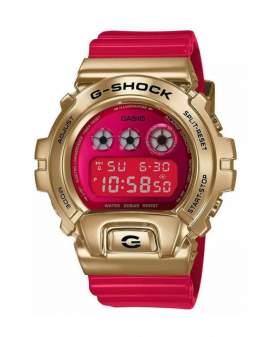 G-Shock Classic Acero Dorado y Resina Rojo de Hombre...