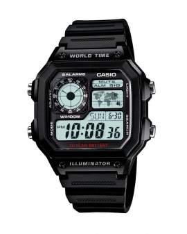 Casio Digital Illuminator World Time Negro Resina de...