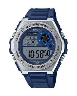 Casio Illuminator Metal Gris y Resina Azul de Hombre MWD-100H-2A