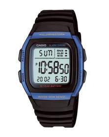 Casio Illuminator Digital Resina Azul y Negro de Hombre W-96H-2A