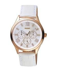 Orient Cronografo Madre Perla Dorado y Blanco de Mujer FSW05002W