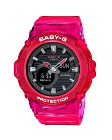 Baby-G Sandy Beach Rojo Transparente de Mujer BGA-270S-4A