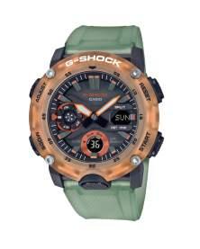 G-Shock Carbon Core Hidden Coast Traslucido Naranja y Verde de Hombre GA-2000HC-3A